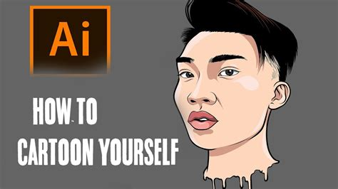 Draw Yourself Illustrator | how to cartoon yourself step by step ricegum tutorial