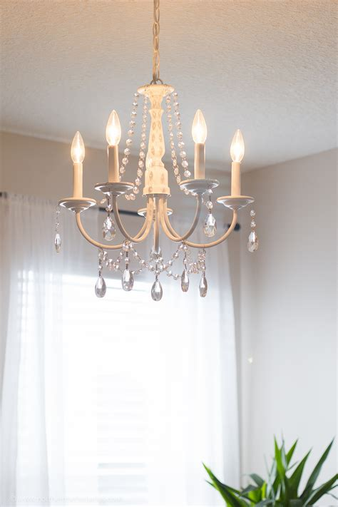 Diy Crystal Chandelier Easy Tutorial How To Make A Chandelier With