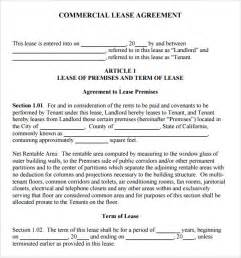 simple commercial lease agreement template free sle commercial lease agreement 7 exle format