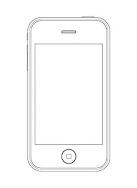 iphone blank template iphone sketching template blank teaching ideas