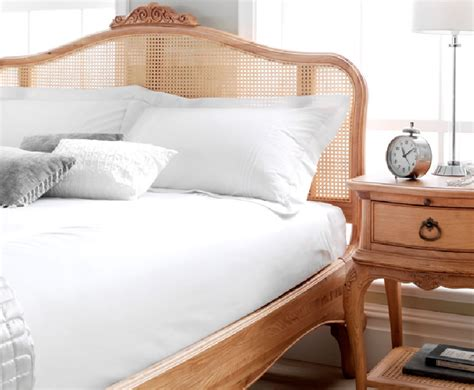 grace solid oak rattan headboard just headboards