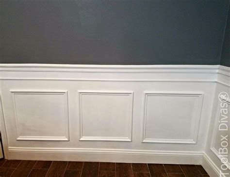 How To Create Wainscoting With Moulding by Install Picture Frame Moulding Budget Friendly