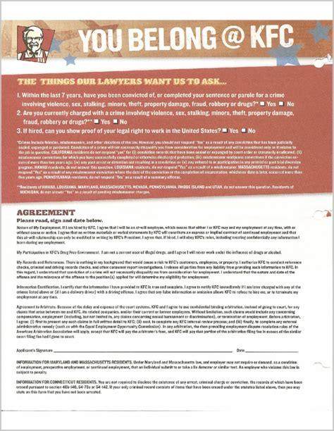 printable job applications kfc kfc job application form printable job application