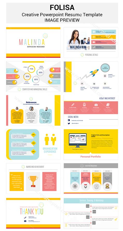 Powerpoint Resume Templates by Resume Template Powerpoint