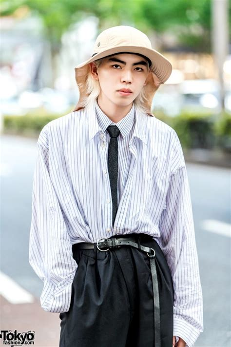 japanese streetwear   dressedundressed layered shirts diego vanassibara tan hat
