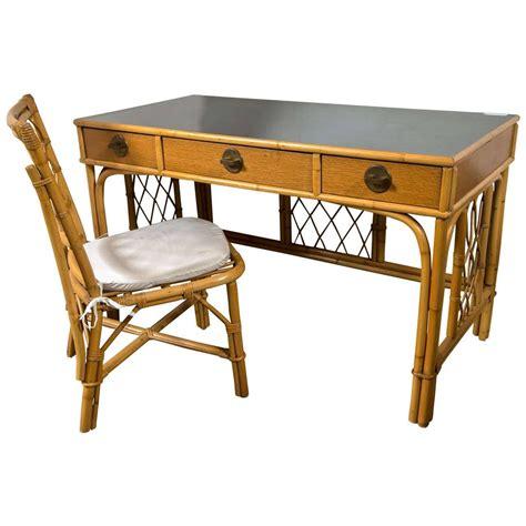 regency dorothy draper bamboo writing desk or