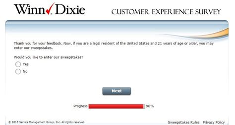 Winn Dixie Sweepstakes - winn dixie customer survey archives customer survey reportcustomer survey report