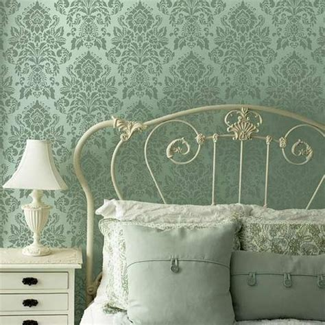 large damask wall stencils french vintage wallpaper