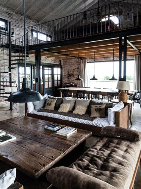 industrial home decor interior design style industrial chic home decorating