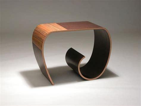 unique furniture design twists and warps wooden materials in artistic way
