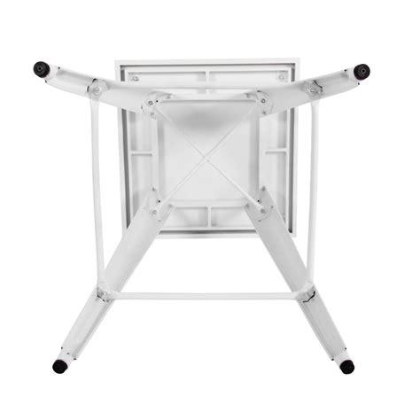 Tolix Bar Table 600mm Square Replica Tolix Bar Table In Matte White