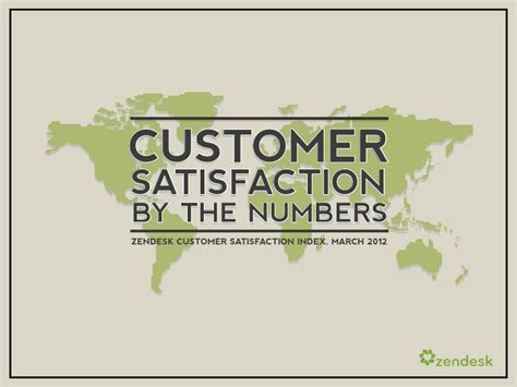 Mba Ppt On Satisfaction by Zendesk Customer Satisfaction And Benchmark Report