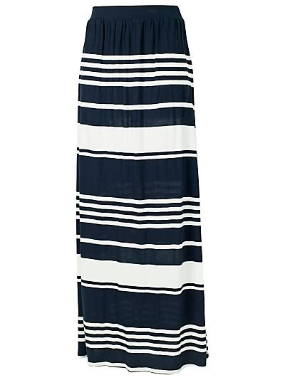 navy striped maxi skirt me want style