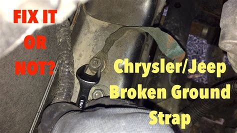 jeep broken ground strap youtube