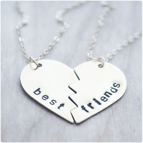 best friend necklace split bff necklace by