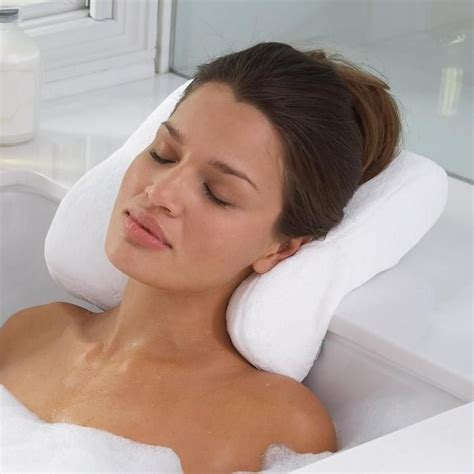 spa pillow for bathtub spa bath pillow 187 petagadget