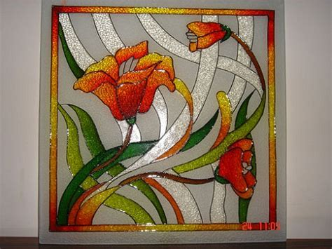 flower design for glass painting glass painting designs and patterns easyday