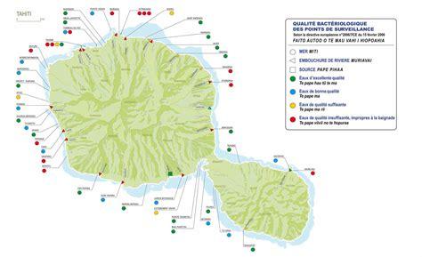 carte eaux de baignade tahiti radio tahiti