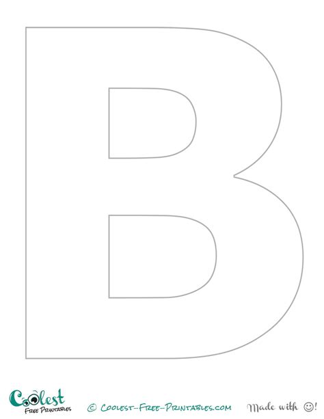printable letter template for 6 best images of printable letter b stencil free