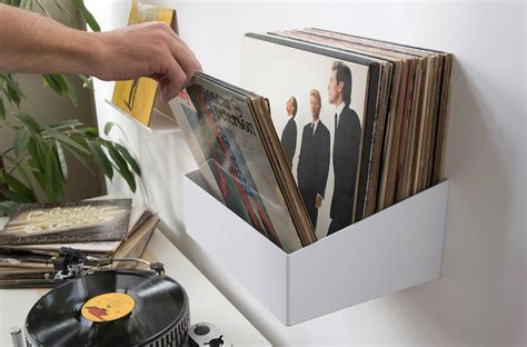 Records Shelf by Show Your Records With This Wall Mounted Record Shelf