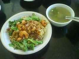 cara membuat mie yamin resep yamin tiaw udang ayam aneka lauk hidangan utama
