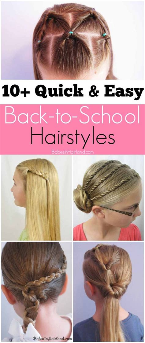 10 back to school hairstyles each under 1 minute 16 best images about kadi hair on pinterest ballerina