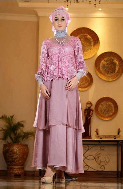 baju kebaya pesta muslimah contoh model baju brokat kombinasi satin terbaru 2015