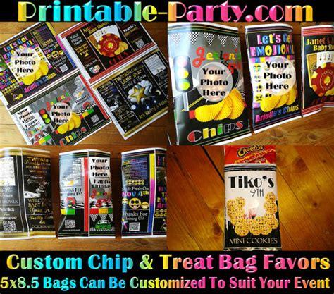 Custom One Of A Bags Chip by Printable Custom Chip Bags Custom Treat Bags