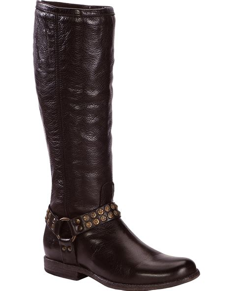 frye studded boots frye s phillip studded harness boot toe