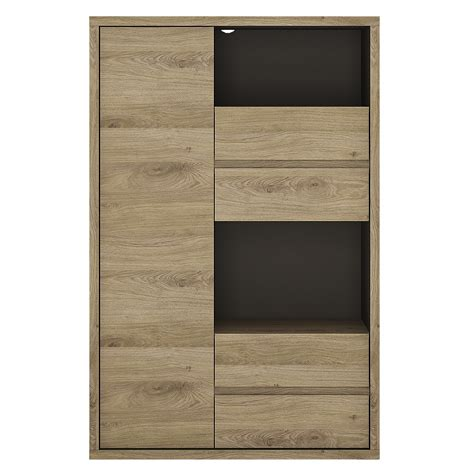 high cabinet with drawers shetland 1 door 4 display cabinet