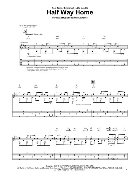 half way home by emmanuel guitar tab guitar