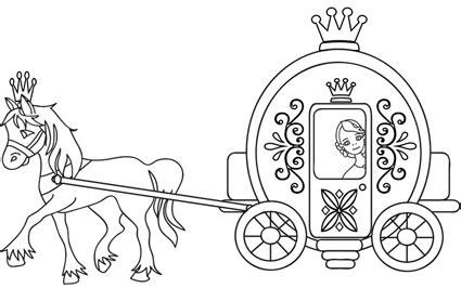 cenerentola zucca carrozza cenerentola nella carrozza disegno da colorare cose per