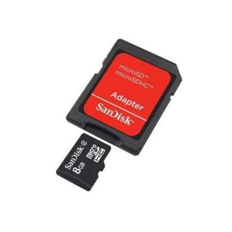 Micro Sd Sandisk 8 Gb tarjeta microsd sandisk 8gb clase 4