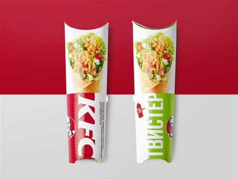 product layout of kfc kfc re design in russia the dieline packaging