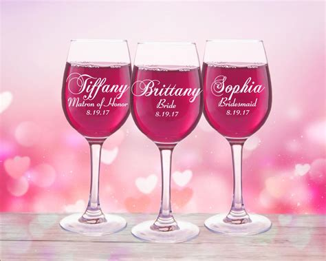 Wedding Gift Wine Glasses by 9 Personalized Wedding Favors Wine Glasses Custom