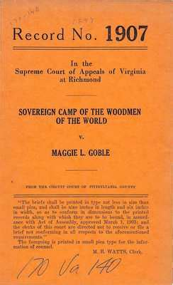 Washington Court Records Name Search Quot Sovereign C Of The Woodmen Of The World V Maggie L