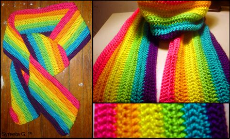 knitting pattern for rainbow scarf crochet rainbow scarf by petra0 on deviantart