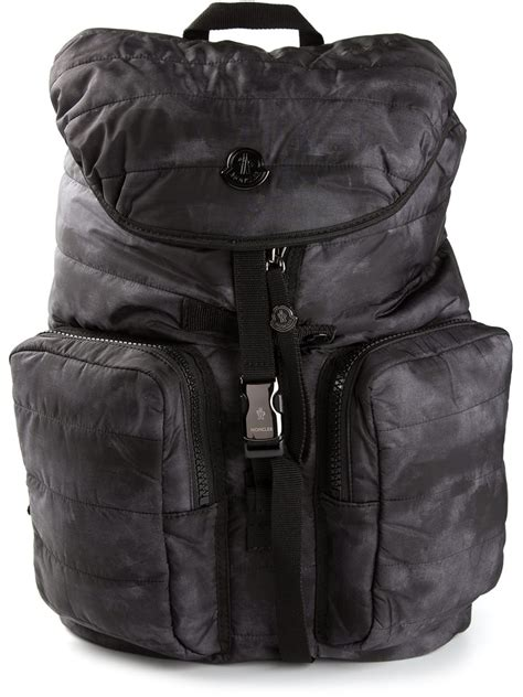 moncler padded backpack in black for lyst