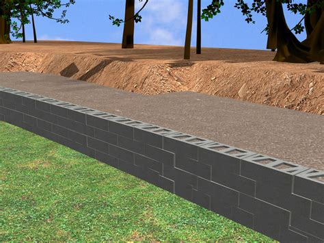 how to construct a block retaining wall 14 steps with