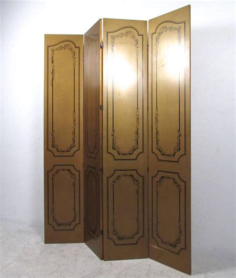 Gold Room Divider Impressive Vintage Gold Leaf Style Four Panel Room Divider For Sale At 1stdibs