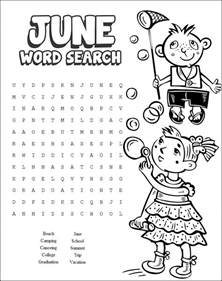 Backyard Game 13 Cool Printable Summer Word Searches Kitty Baby Love