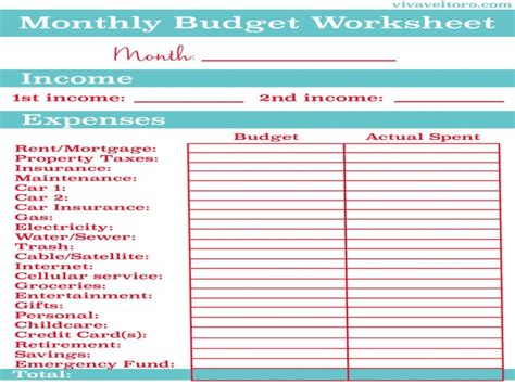 best 25 household budget template ideas on