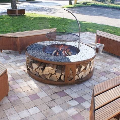 grill firepit pit grill designs ideas for your backyard