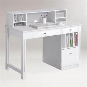 Kitchen Hutch World Market White Wood Clara Desk With Hutch World Market