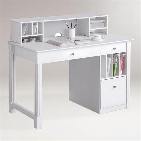 world market white desk white wood clara desk with hutch world market