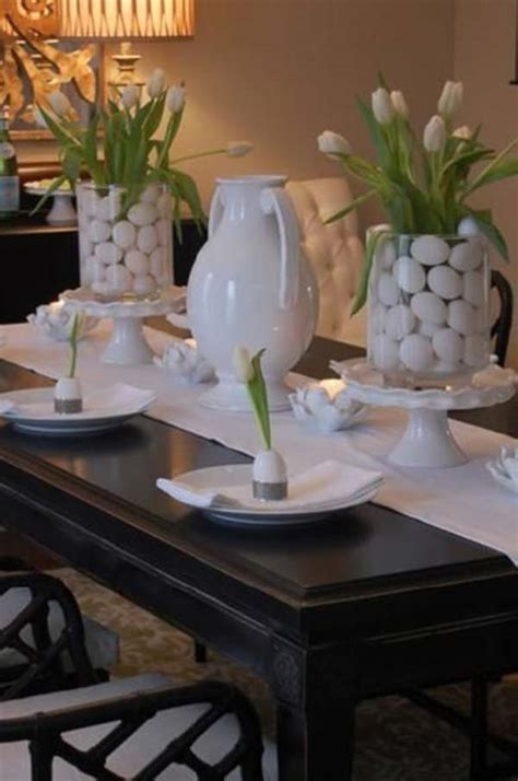 Top 47 Lovely And Easy To Make Easter Tablescapes Easter Dining Table Decorations