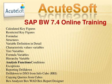 sap wad tutorial sap bw 7 4 with online training