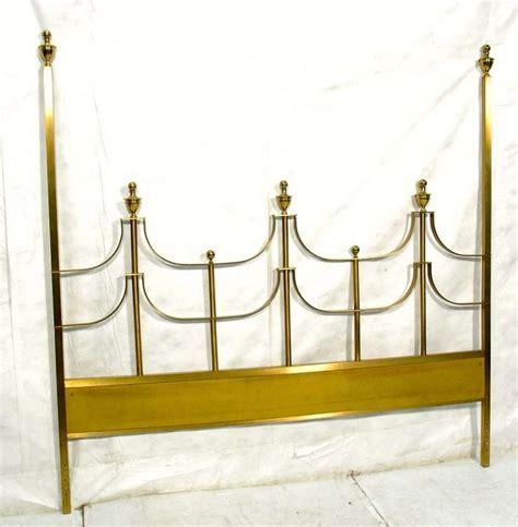 brass king size headboard hollywood regency king size brass headboard for sale at