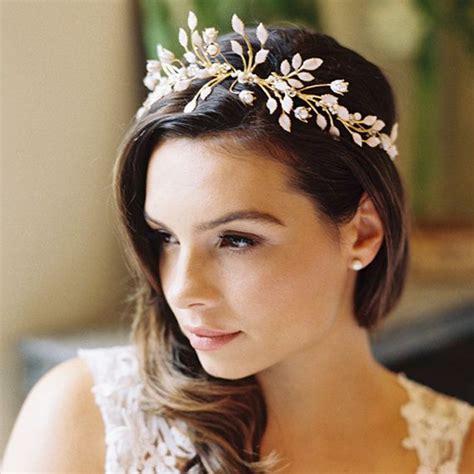 Wedding Hair With Crown by Wedding Leaf Crown Floral Crown Laurel Crown Wedding