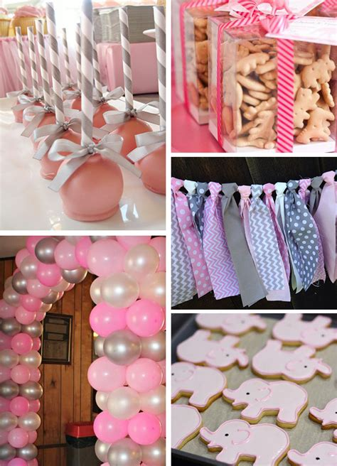 Gray And Pink Baby Shower by Inspirations Pink And Gray Elephant Baby Shower Sweet